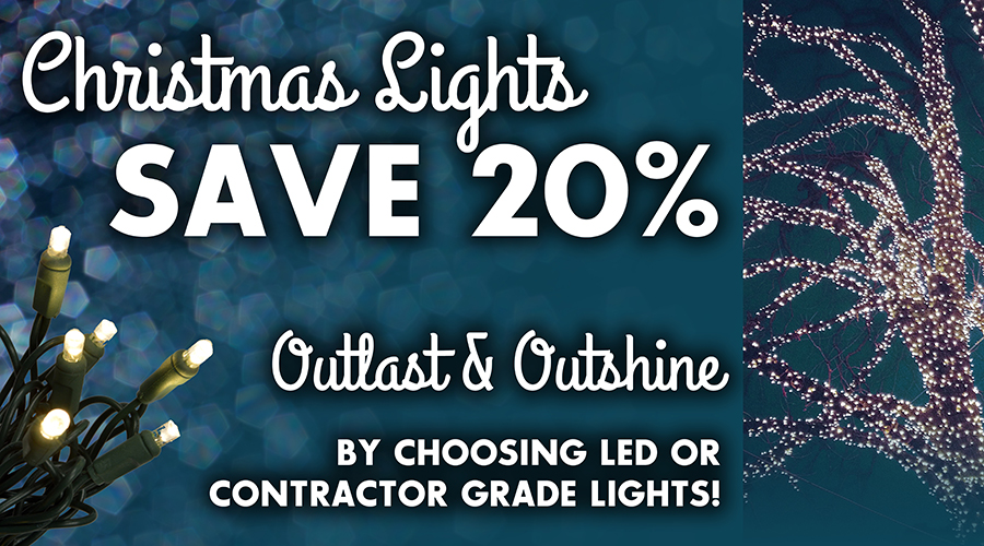 Save 20% Off Christmas Lights at Alsip Home & Nursery