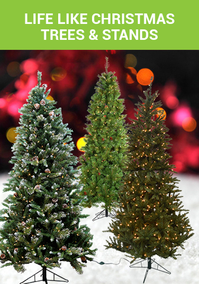Shop Life Like Christmas Trees and Tree Stands from Alsip Home & Nursery!