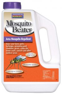 Mosquito Beater by Bonide is an effective area mosquito repellent that lasts up to 3 weeks.