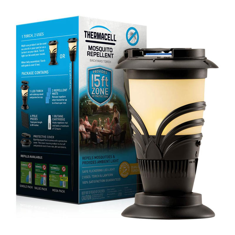 Thermacell Lexington Mosquito Repeller Torch an effective spatial and portable repellent