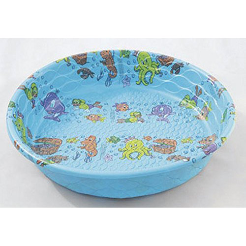 5' Round plastic wading pool. Set up in a shady spot to give your dog a place to cool off after playing in the hot sun!