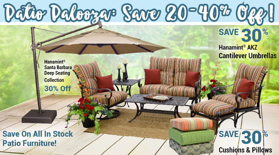 Save up to 40% Off Patio Furniture!