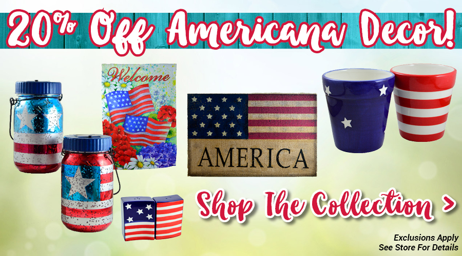 Save on Americana Themed Decor for Memorial Day!
