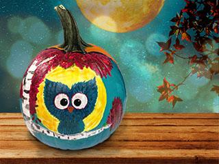 Owl Moon Pumpkin Paint & Sip