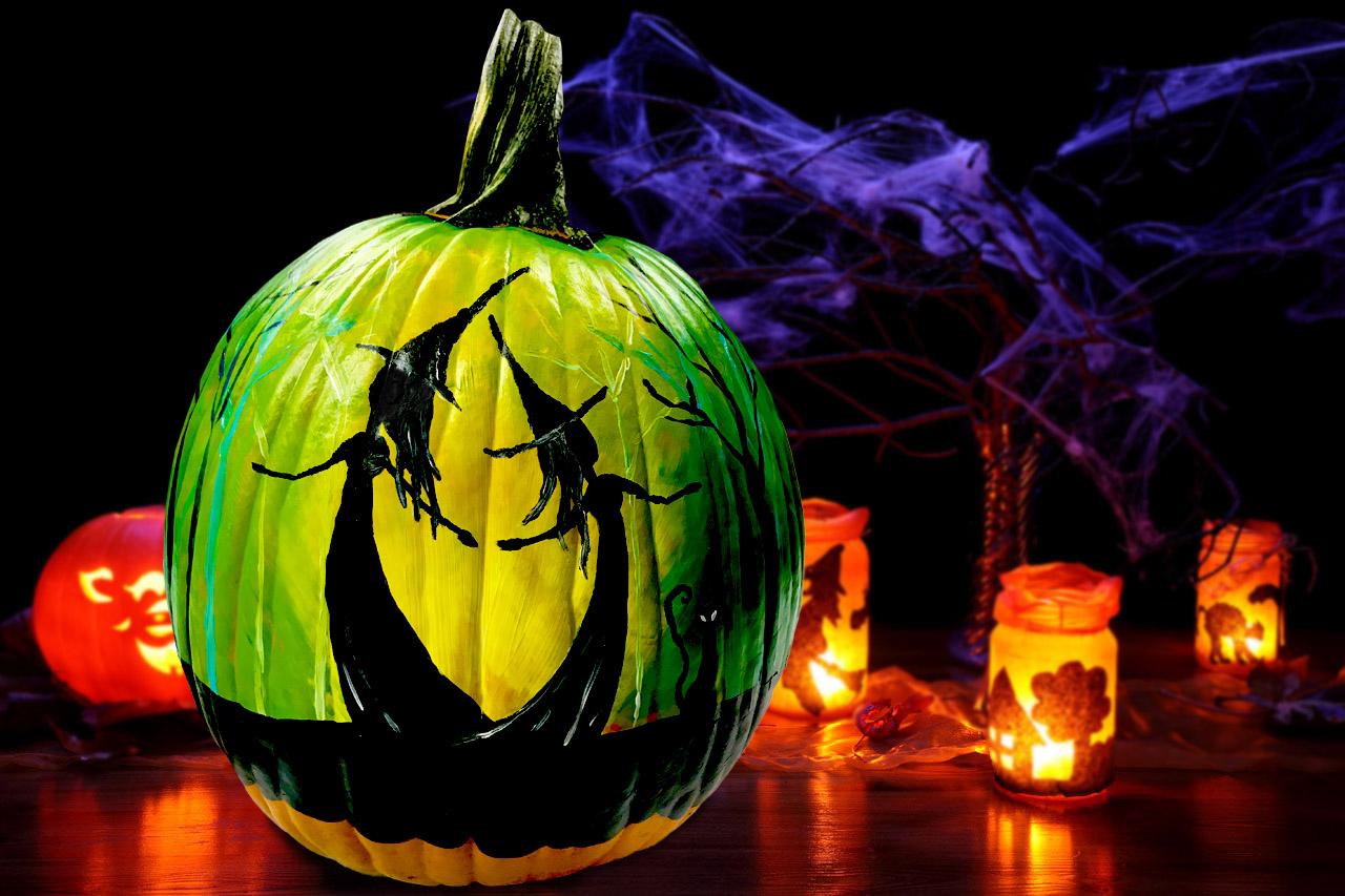 Pumpkin Paint Sip 2 Witches Dancing Alsip Home Nursery