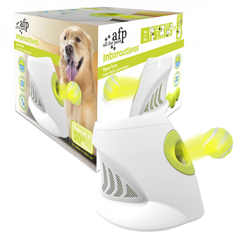 Hyper Fetch ball launching dog toy is available at Alsip Home & Nursery
