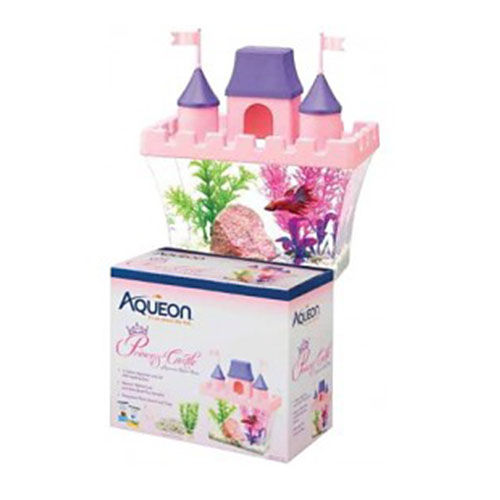Aqueon half gallon Princess Castle Betta Kit makes the perfect gift for kids who are ready to own their pet betta fish!