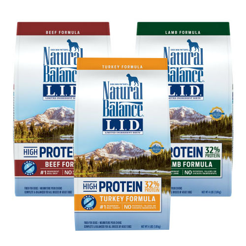 Natural Balance Limited Diet Dog Food is available at Alsip Home & Nursery