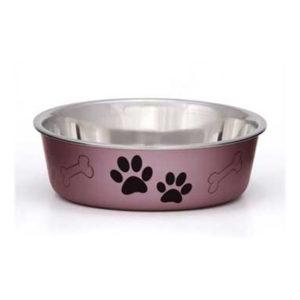 Bella Bowls Dog Bowl, Metallic, Medium