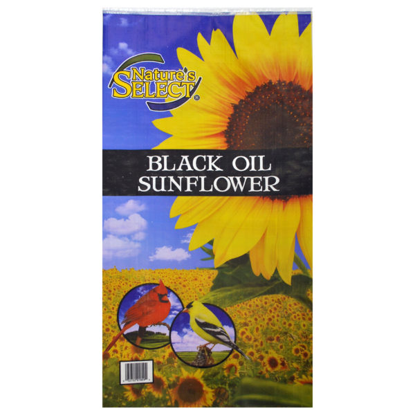 NATURE'S SELECT BLACK OIL SUNFLOWER SEED, 20 LB