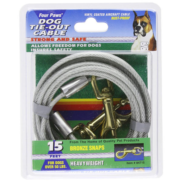 15' Heavy Weight Dog Tie Out Cable