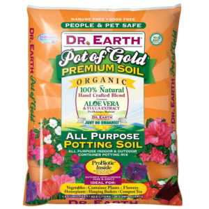 DR. EARTH NATURAL AND ORGANIC POTTING SOIL, 1 1/2 CU.FT.