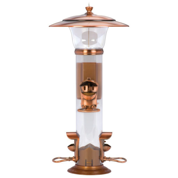 CLASSIC BRANDS RADIANT SONGBIRD FEEDER, BRUSHED COPPER FINISH, 1-1/2-POUND