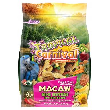 TROPICAL CARNIVAL GOURMET MACAW BIG BITES FOOD, 5 LB