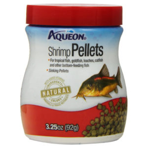 AQUEON SHRIMP PELLETS FISH FOOD, 3.25 OZ.