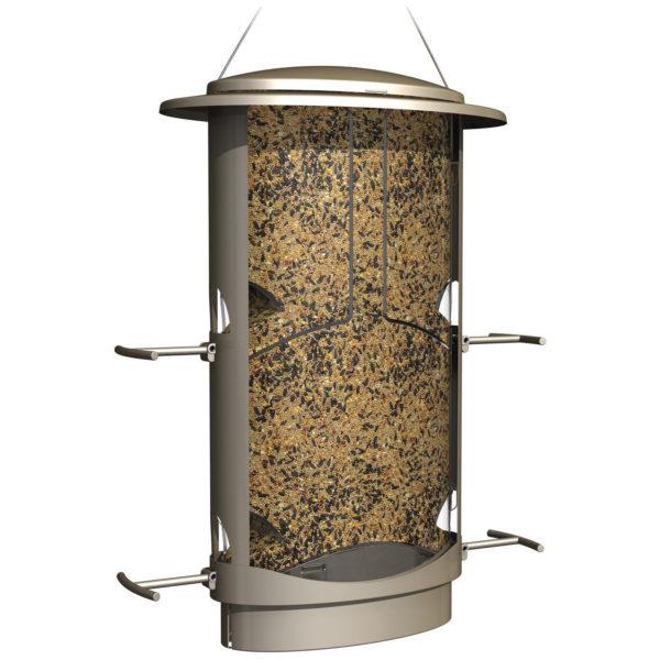 MORE BIRDS X-1, SQUIRREL PROOF BIRD FEEDER, 4 FEEDING PORTS, 4.2-POUND