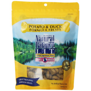 NATURAL BALANCE, POTATO AND DUCK FORMULA DOG TREATS, 8 OZ.