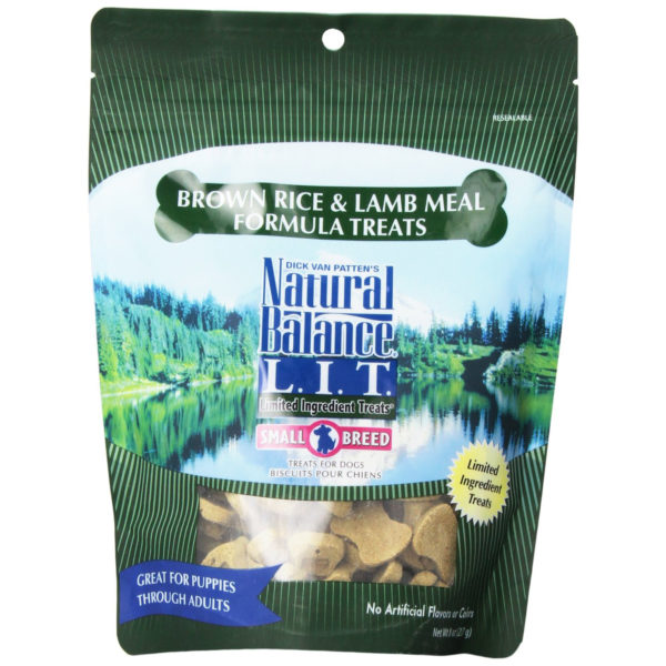 NATURAL BALANCE LIMITED INGREDIENT DOG TREATS, BROWN RICE AND LAMB, 8 OZ.
