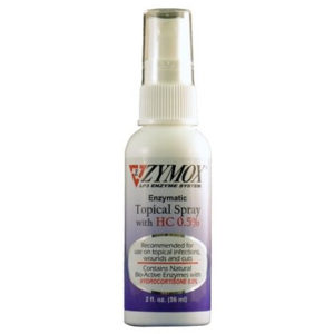 ZYMOX ENZYMATIC TOPICAL SPRAY WITH HYDROCORTISONE 0.5%, 2 FL OZ