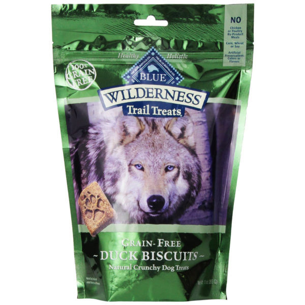 BLUE BUFFALO WILDERNESS TRAIL TREATS GRAIN FREE DUCK DOG BISCUITS, 10-OUNCE