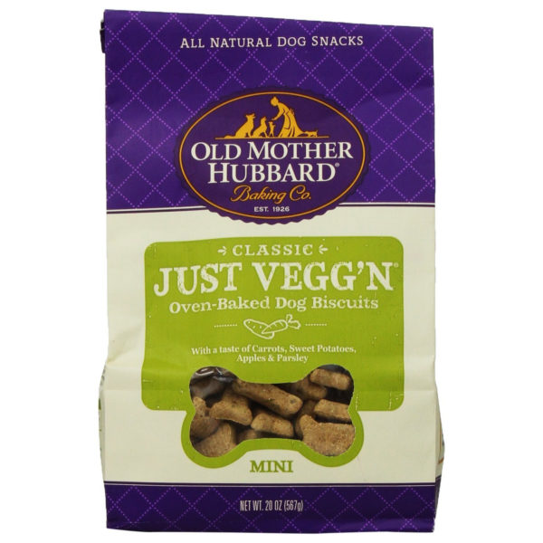 OLD MOTHER HUBBARD CRUNCHY CLASSIC NATURAL DOG TREATS, JUST VEGG'N