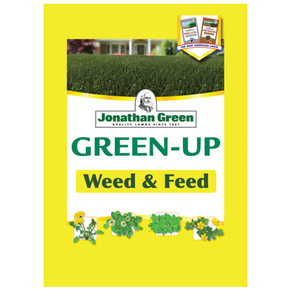 WEED AND FEED LAWN FERTILIZER, 15000 SQ. FT.