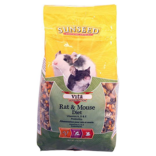 SUNSEED VITA RAT & MOUSE DIET, 2 LB.