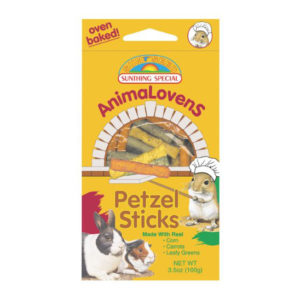 ANIMALOVENS PRETZEL STICKS FOOD, 3.5 OZ