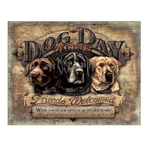 DOG DAY ACRES METAL SIGN