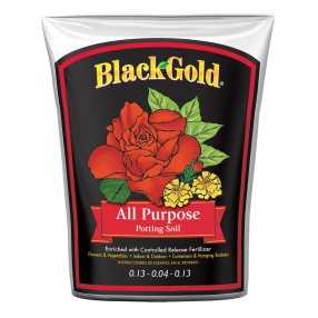 BLACK GOLD ALL PURPOSE POTTING SOIL, 16 QT.
