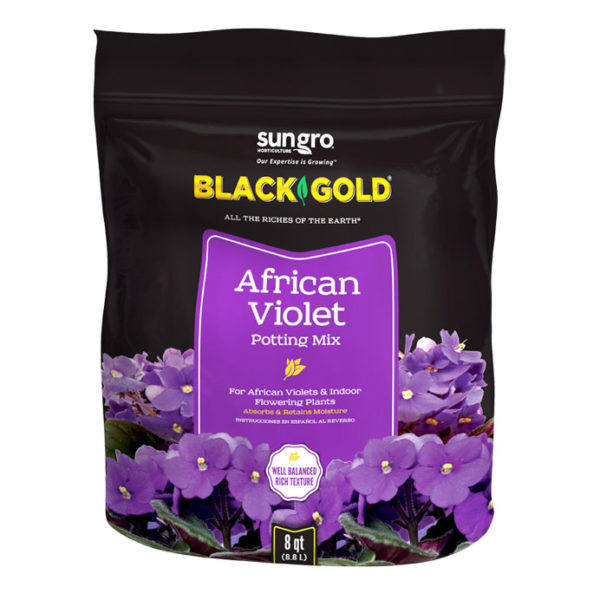 BLACK GOLD AFRICAN VIOLET POTTING MIX, 8 QT.