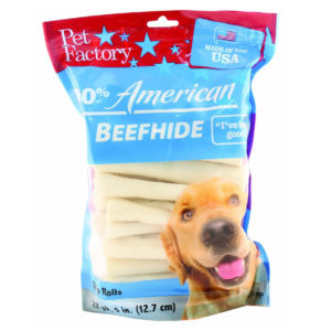 PET FACTORY USA 5-INCH CHIP ROLLS CHEWS FOR DOGS (22-PACK)