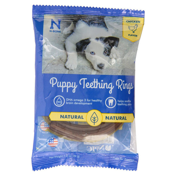 PUPPY TEETHING RING CHICKEN FLAVOR