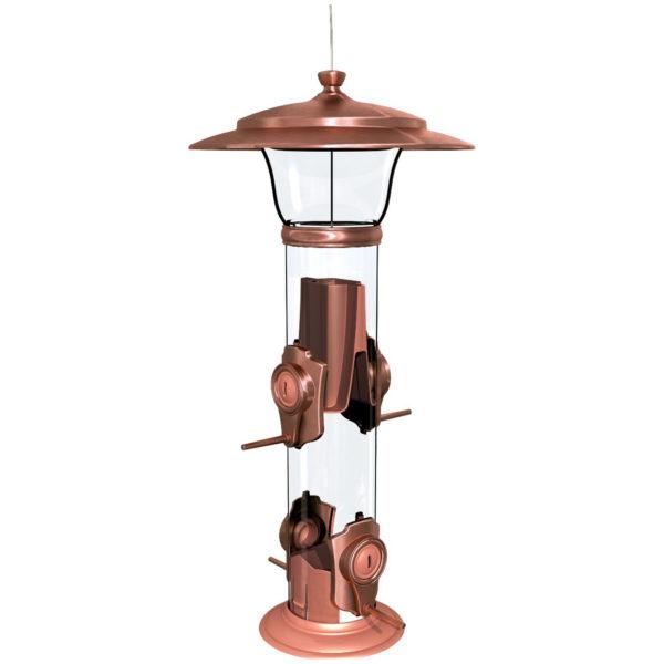 More Birds Classic Brands Radiant Finch Bird Feeder, 1.2-Pound, Copper