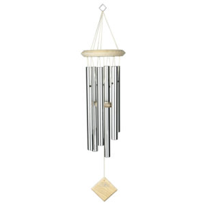 WOODSTOCK CHIMES ENCORE COLLECTION CHIMES OF PLUTO, SILVER/WHITE WASH