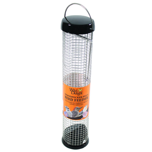 Droll Yankees 13-inch Tube Bird Feeder, Black