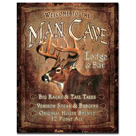 Man Cave Lodge Tin Sign