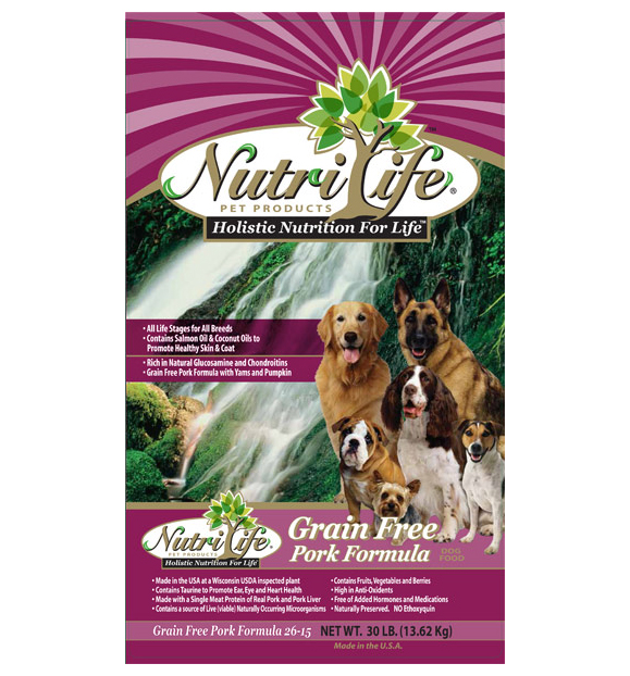 NUTRI LIFE® GRAIN FREE PORK DOG FOOD
