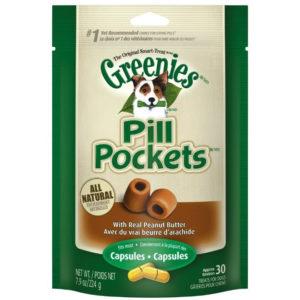 GREENIES PILL POCKET CAPSULES PEANUT BUTTER, 7.9 OZ.