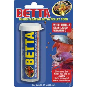 ZOO MED LABORATORIES BETTA MICRO PELLET FOOD, 0.65 OZ.