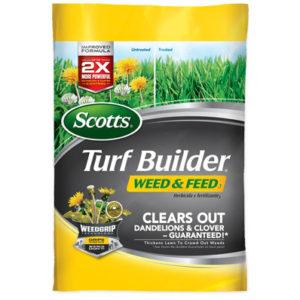 TURF BUILDER WEED & FEED, 5000 SQ. FT.