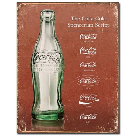 Coke - Script Heritage Tin Sign