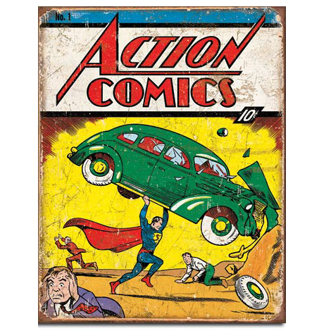 Action Comics No. 1 Cover Tin Sign