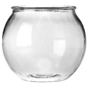 ANCHOR HOCKING GLASS ROUND FISH BOWL, 0.5 GAL.
