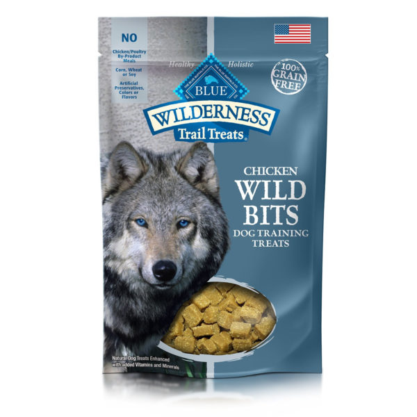 BLUE BUFFALO CHICKEN WILD BITS DOG TREATS 4 OZ.