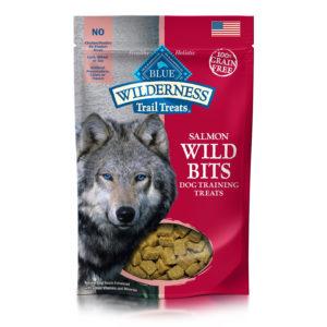 BLUE BUFFALO SALMON WILD BITS DOG TREATS 4 OZ.