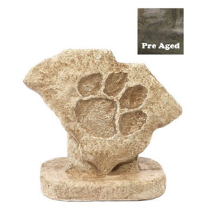Paw Print Statue-Pre-Aged