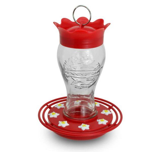 PENNINGTON GLASS HUMMINGBIRD FEEDER, 28 OZ. CAPACITY
