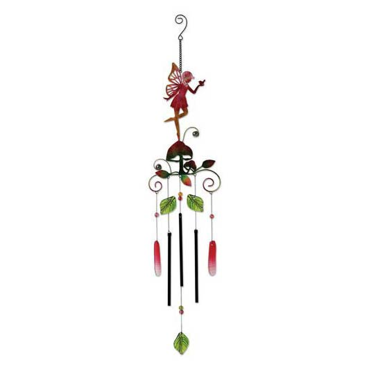 "38"" PINK GLASS FAIRY CHIME"