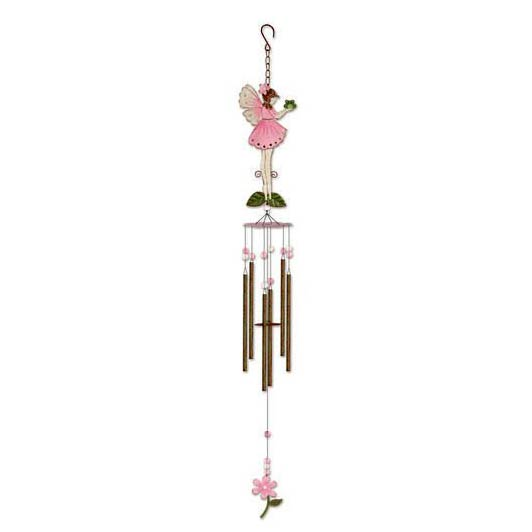 "41"" PINK FAIRY W/FROG CHIME"